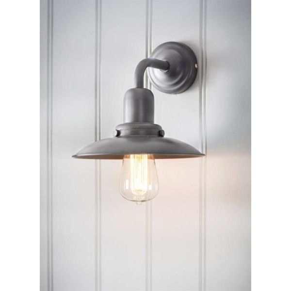 Hayle Wall Light Charcoal (€51) ❤ liked on Polyvore featuring home, lighting, wall lights, dimmer lamp, halogen pendant light, colored pendant lights, colored lights and colored lamps