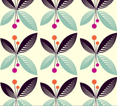 : September 2008, Prints Pattern, Vintage Design, Print Patterns, Floral Pattern, Color Combination
