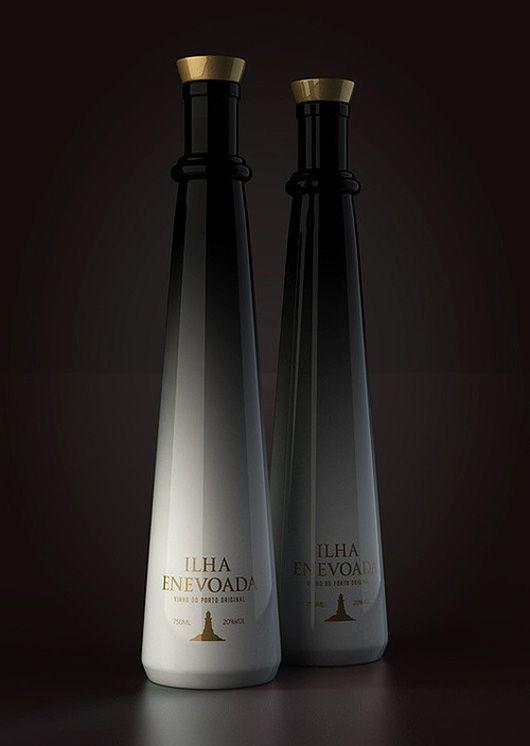 Ilha Enevoada Port Wine Bottle by Pavel Kulinsky #packaging #design