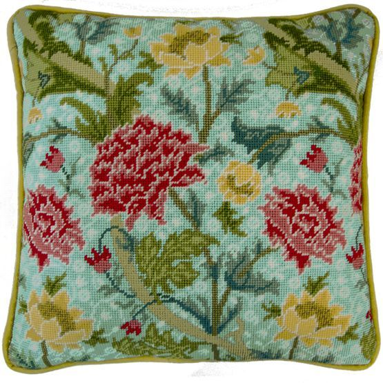 Featuring wonderfully rich colours and textures, this Cray Tapestry Cushion Panel Kit is one of a series of designs from the William Morris Collection.