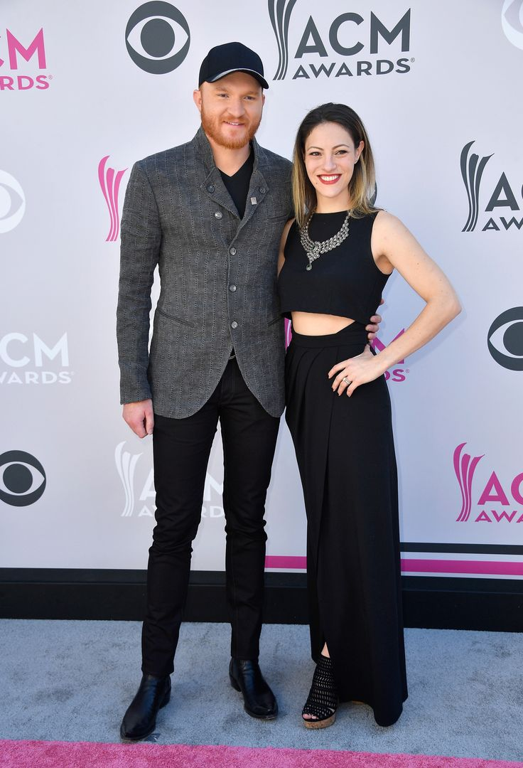 LAS VEGAS, NV - APRIL 02: Recording artist Eric Paslay (L) and Natalie Harker attend the 52nd Academy Of Country Music Awards at Toshiba Plaza on April 2, 2017 in Las Vegas, Nevada. (Photo by Frazer Harrison/Getty Images) via @AOL_Lifestyle Read more: https://www.aol.com/article/entertainment/2017/04/02/acm-awards-2017-red-carpet-arrivals/22022806/?a_dgi=aolshare_pinterest#fullscreen