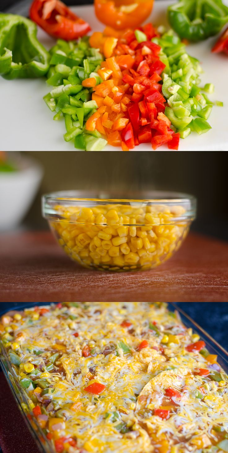 Healthy Enchilada Bake—cheesy and flavorful without the calories, fat, and carbs!
