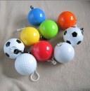 Disposable poncho ball