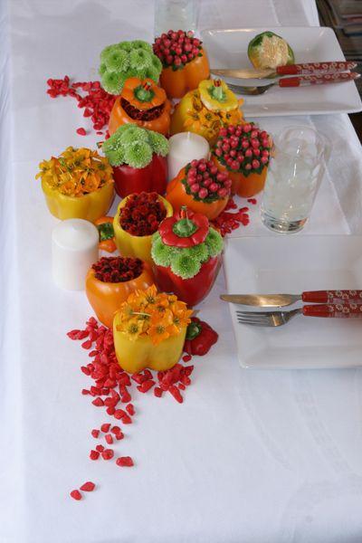 Red peppers – art de la table