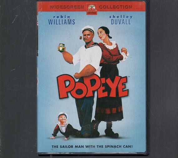 Popeye  Live action Movie Robin Williams Shelley Duvall