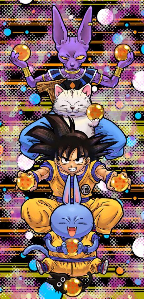 Bills, Korin, Goku, Neko Majin Z, & Scratch