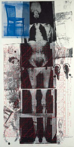 """Robert Rauschenberg - """"Booster."""" from Booster and Seven Studies (Foster 47; Gemini 32) 1967. Lithograph and screenprint in colors, on Curtis Rag, signed and dated in pencil."""
