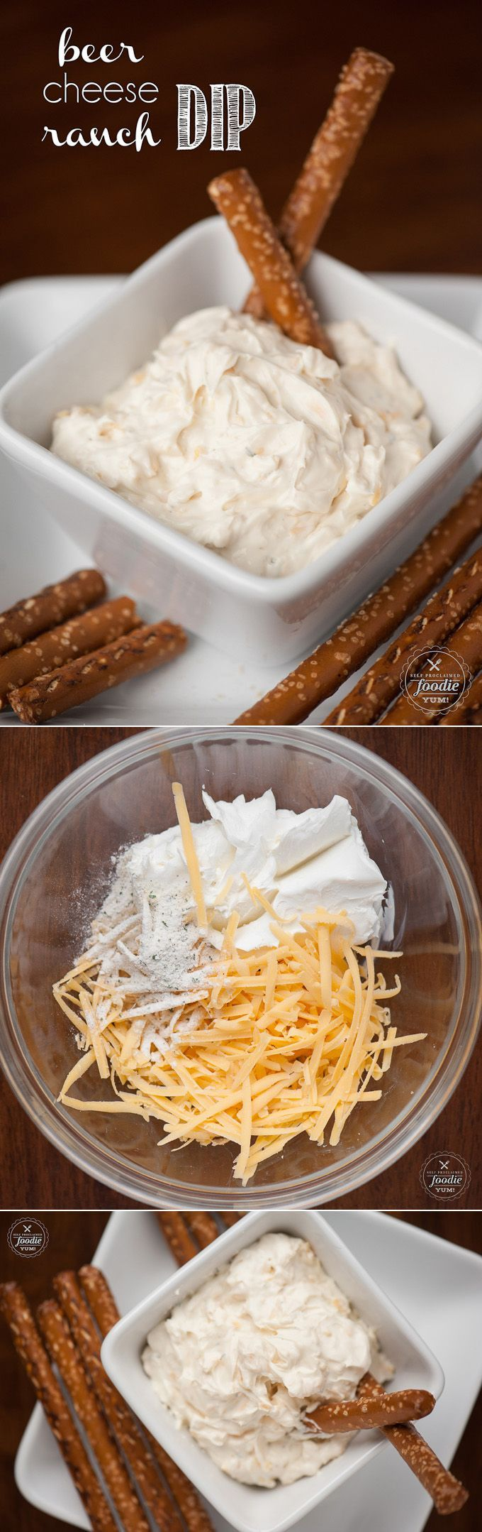 If you love beer, cheese, and the flavor of ranch, then this easy to make chilled Beer Cheese Ranch Dip should be the game day appetizer you make!
