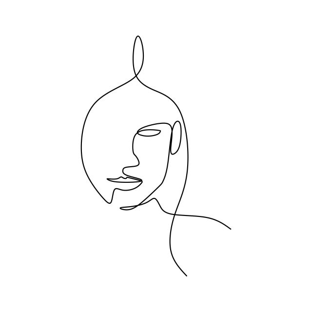 Abstract Face Continuous One Line Drawing Vector Illustration Minimalism Style On White Background Good For Poster Art And Wallpaper Drawing One Line Contour Line Art Drawings Simple Line Drawings Face Line