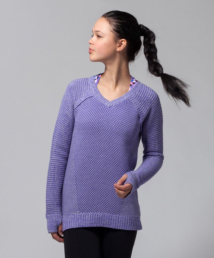 This ivivva Power Purple & Heathered Light Gray Busy to Be Cozy Pullover by ivivva is perfect! #zulilyfinds