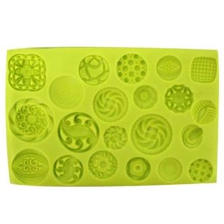 SILICONE MOULD - FLORAL BUTTONS
