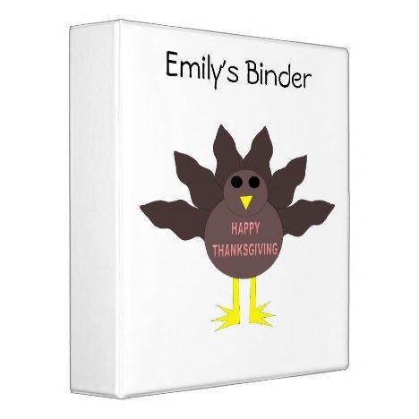 Thanksgiving Plucked Turkey Custom Binder #thanksgiving #binders