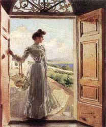 Vittorio Corcos Ada in controluce 1905 olio su tela, cm 56x46