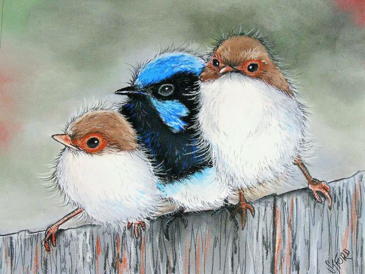 """""""Little Family"""" Pastel by Sally Ford"""