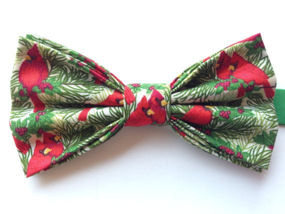 Christmas Cardinal Bow Tie Christmas Bow Tie by WatfordTies