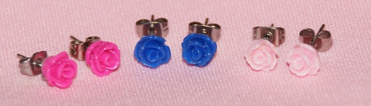 Cute Rose Earrings!
