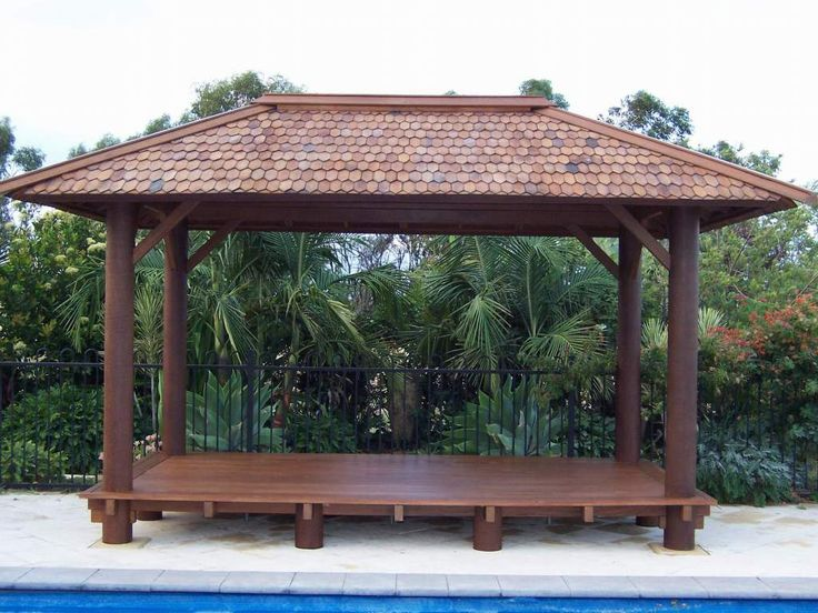 9 best images about gazebos and rustic retreats on for Rustic gazebo plans