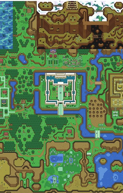 The Legend of Zelda: A Link to the Past Map