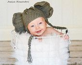 Happy Baby Crochet Elephant Hat newborn photography prop