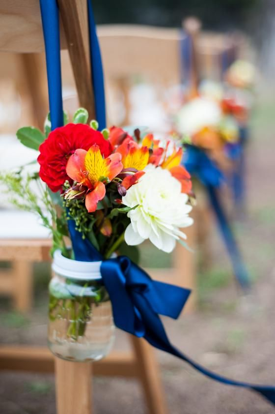 Flowers hanging in a mason jar   A DIY Wedding Meets the Headlands Center for the Arts   7x7