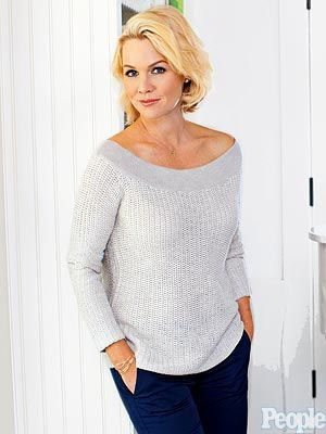 Jennie Garth (Jennie Garth: A Little Bit Country) in a James Perse sweater