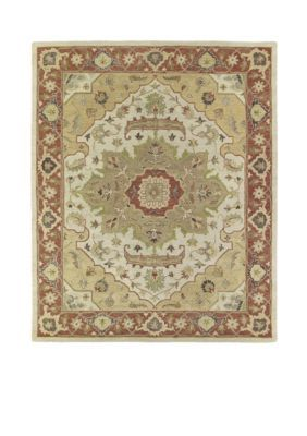 "Kaleen  Solomon Gold Area Rug 2'6"" X 8' - Yellow - 2 X 8"