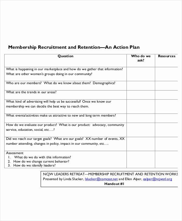 30 Recruitment Action Plan Template In 2020 With Images Action