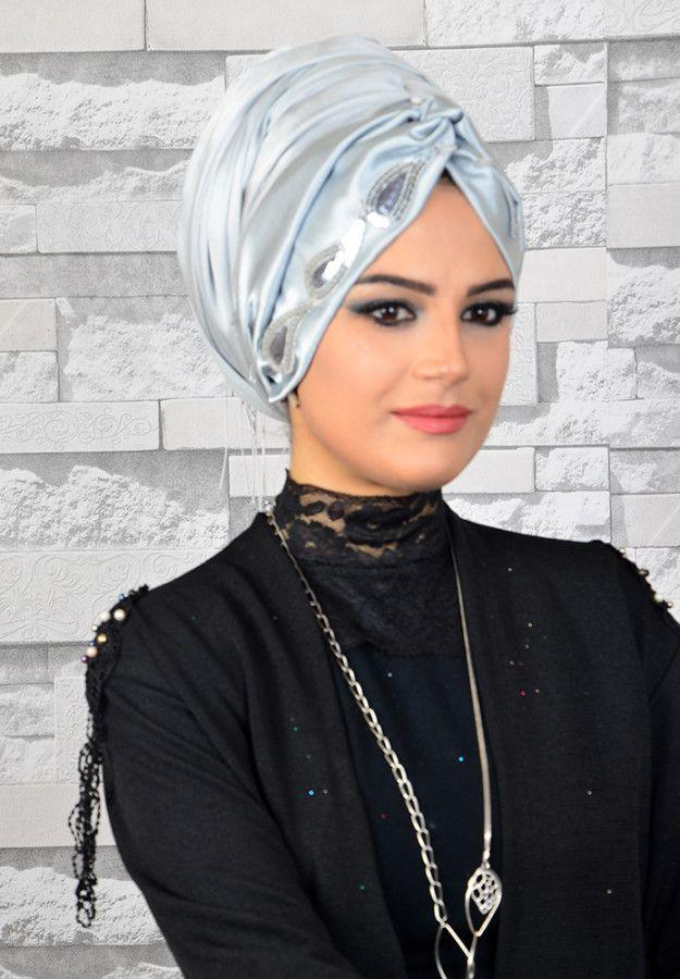 69cd4dc292022 Aişe Tesettür - Gümüş Nakışlı Abiye Hazır Şal | hijab in 2019 | Şal ...