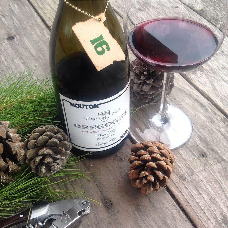 Oregon Advent: Day 16.  Mouton Noir Oregogne (Rogue) Willamette Valley Pinot Noir 2012.