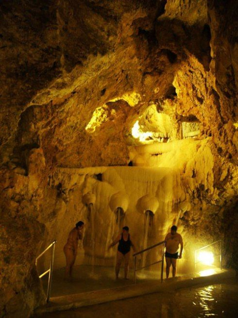 thermal baths in a natural cave, hungary 2