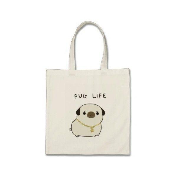 Pug Life Budget Tote Bag (615 RUB) ❤ liked on Polyvore featuring bags, handbags, tote bags, tote bag purse, handbags totes, tote purses, white tote and tote hand bags
