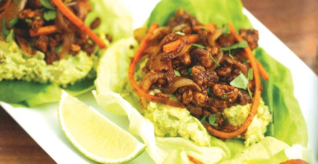 The Blood Sugar Solution Cookbook. Spiced turkey lettuce wraps
