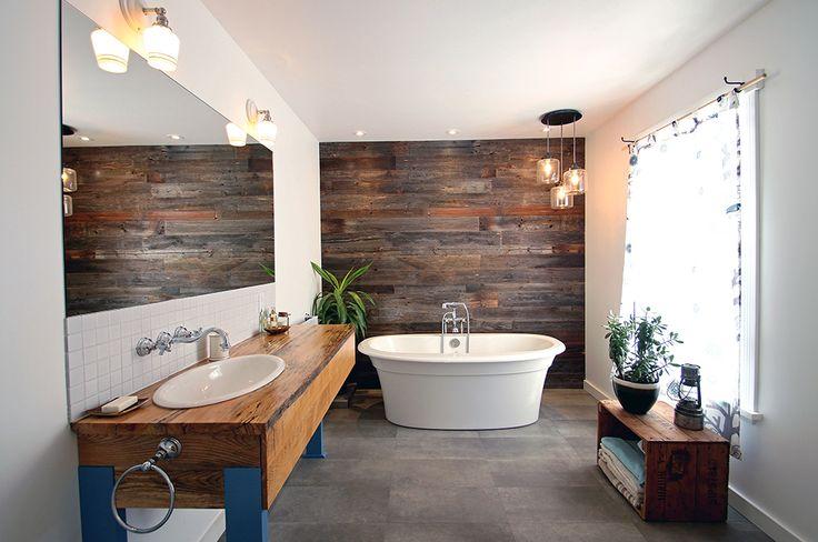 Salle de bain éclectique Dunham - Designer d'intérieur à Québec | Bromont