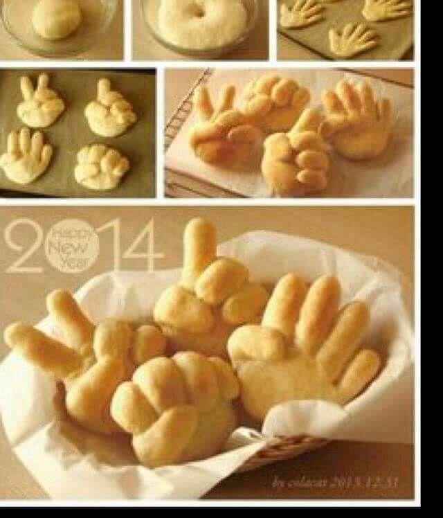 Des mains en pain
