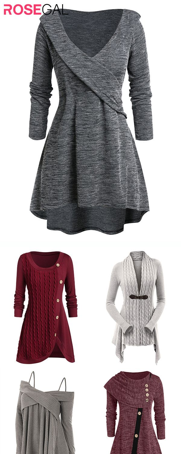 Rosegal plus size Fall Sweater outfits Women autumn fashion sweater ideas
