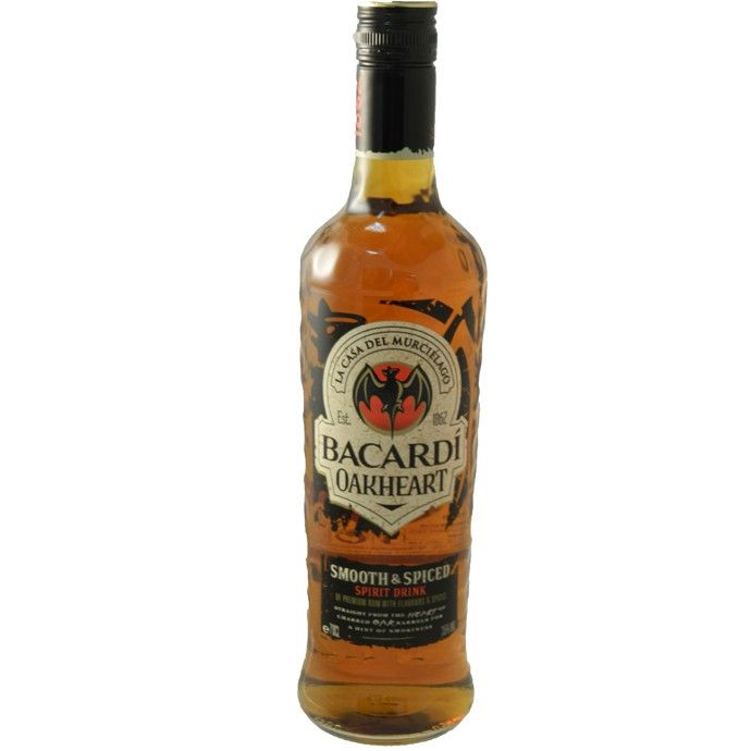 Bacardi Oakheart Spiced Rum  Warming spicy flavours with a gentle oaky finish. You can taste the sunshine in every sip.