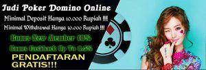 Situs Judi qq Deposit Murah hanya 10 rb withdraw 30 rb dengan memberikan banyak bonus new member 10 %, bonus turn over 0.5%, bonus refferral 10 % seumur hidup