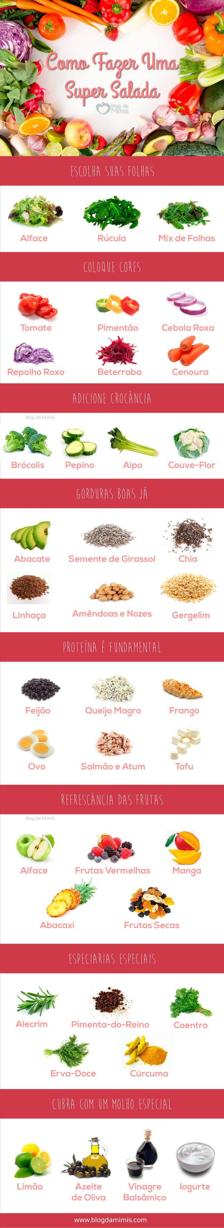 Como fazer uma super salada  Visite www.saudeprospera.com.br e saiba dicas para cuidar da sua alimentação..