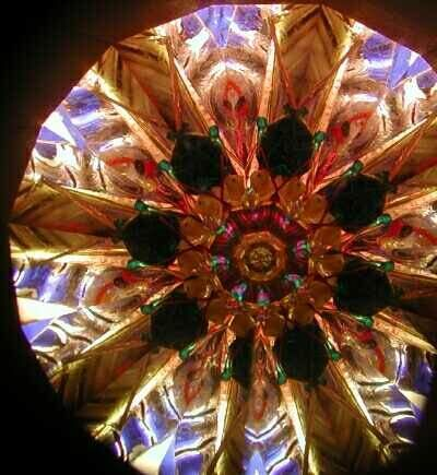 Octagon shaped kaleidoscope images are among the most rich and symmetrical because of multiple levels of symmetry.