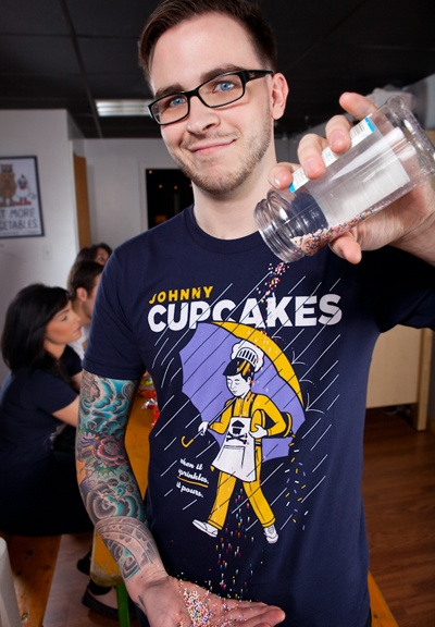 Johnny Cupcakes | morton salt spin off t-shirt design