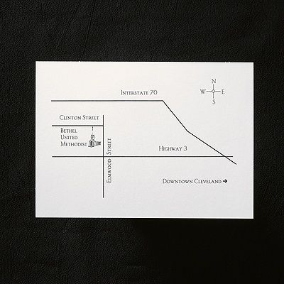 13 best Map   Direction Cards images on Pinterest   Wedding cards     White Horizontal Map Card