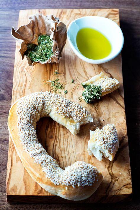 Jerusalem Bagels with Green Zaatar  Olive Oil  Jewish