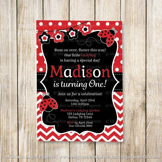 Ladybug Birthday Invitation orderecigsjuiceinfo