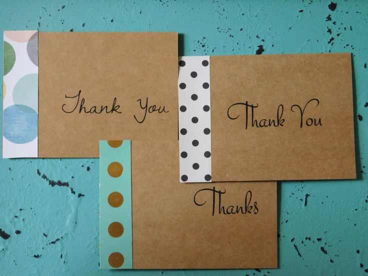 Thank You Cards, Thank You Notes, Blank Notecards, Polka Dots, Custom Thank You Cards, Kraft Paper, Vintage, Lined Envelopes, Stationery by SweetTartsBoutique on Etsy