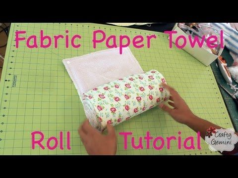 """In this video I teach you how to make a roll of reusable fabric """"paper"""" towels for your kitchen!  Stop wasting money and paper buying roll after roll of paper towels and make your own instead! I love repurposing items into something functional and this is just the project for using old or thrifted towels.  It's a """"green"""" and environmentally frie..."""