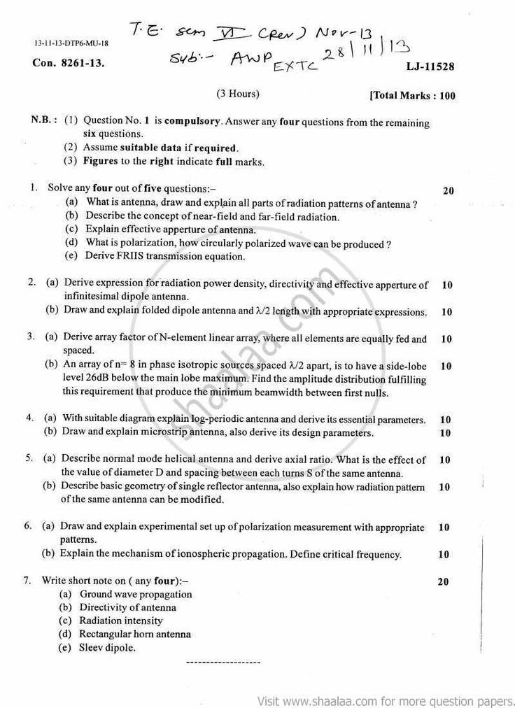 10 best mumbai university engineering question papers images on antenna and wave propagation 2013 december engineering electronics and telecommunication be bachelor of university of mumbaiuniversity malvernweather Images