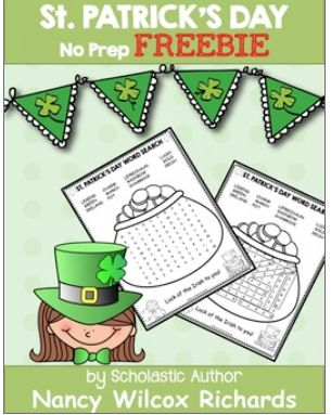 A fun St. Patrick's Day word search! Great for early elementary!