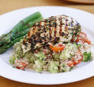 Keen on quinos! Lemon chicken with quinoa salad | Australian Healthy Food Guide