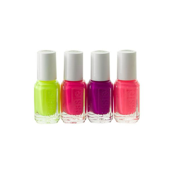 Essie 'Neons' Mini Nail Polish | Makeup Bag ❤ liked on Polyvore featuring beauty products, nail care, nail polish, beauty, fillers, makeup, nails, essie nail lacquer, makeup purse and essie nail varnish