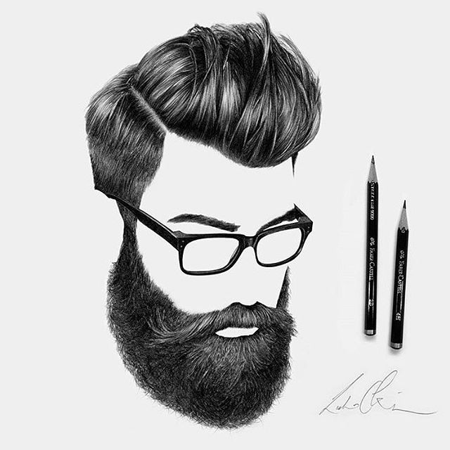 how to draw a beard in pencil
